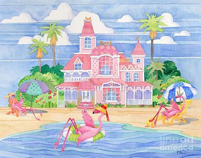 Funky Flamingo Hotel II Poster by Paul Brent