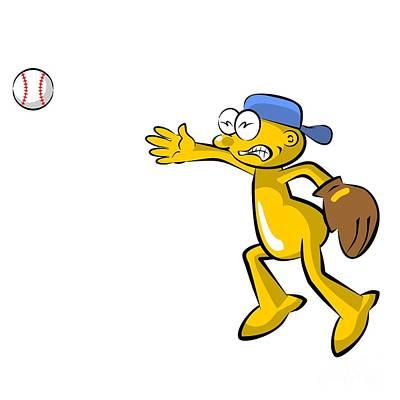 Funny Baseball Pitcher Poster