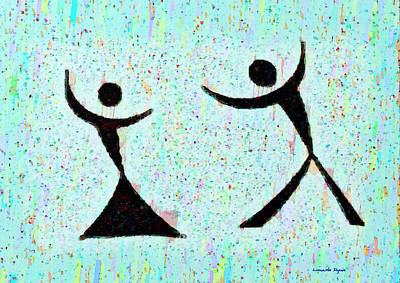 Funny Dance - Pa Poster by Leonardo Digenio