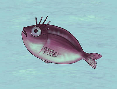 Funny Fish With Fancy Eyelashes Poster