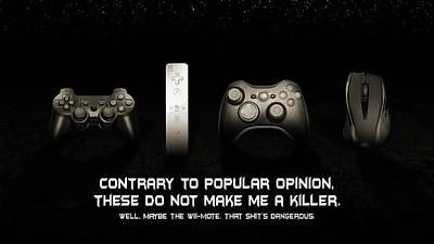 Funny Video Game Controllers                   Poster