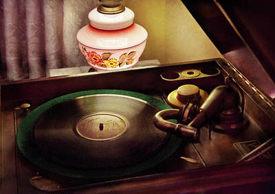 Furniture - Record - Playin The Oldies  Poster by Mike Savad