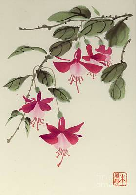 Poster featuring the painting Fuschia Pink by Yolanda Koh