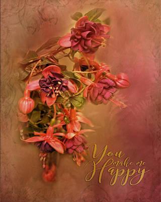 Fushia Bouquet Poster