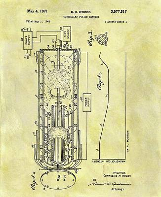 Fusion Reactor Patent Poster by Dan Sproul