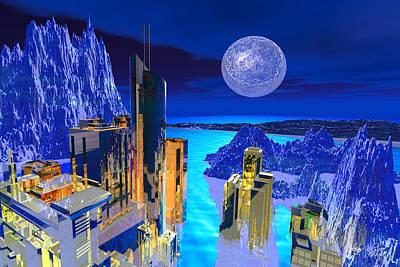 Futuristic City Poster