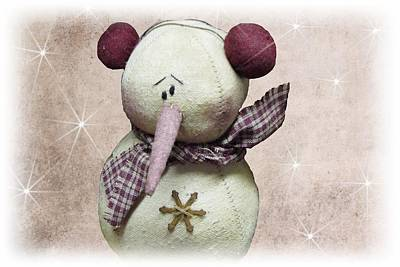 Fuzzy The Snowman Poster by David Dehner