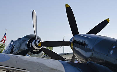 Fw190 And Spitfire Poster