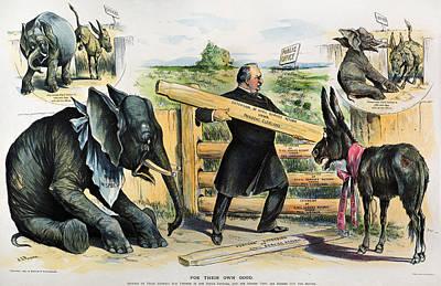 G. Cleveland Cartoon, 1895 Poster
