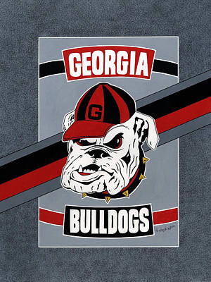 Bulldogs Poster T-shirt Poster by Herb Strobino