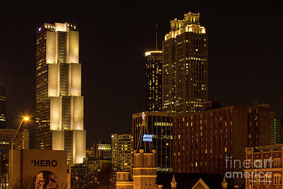 Ga Pacific Tower Jesus Saves Atlanta Cityscapes Art Poster by Reid Callaway