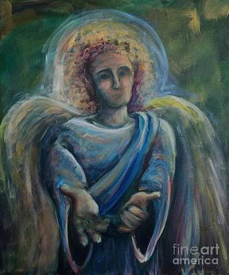 Poster featuring the painting Gabriel by Lisa DuBois