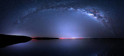 Poster featuring the photograph Galactic Lake by Mark Andrew Thomas