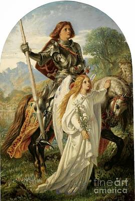 Galahad And The Angel Poster by MotionAge Designs