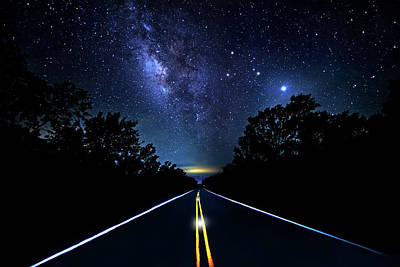 Poster featuring the photograph Galaxy Highway by Mark Andrew Thomas