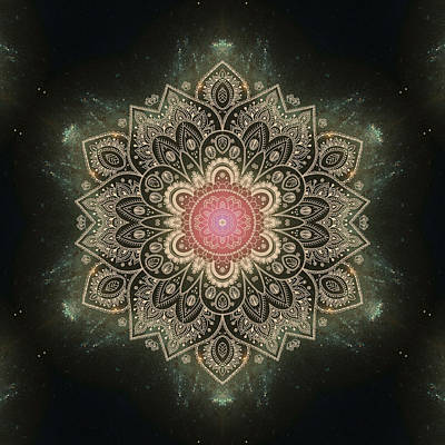 Galaxy Mandala #1 Poster by Lena Photo Art