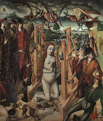 Gallego Fernando The Martyrdom Of Saint Catherine Poster by Fernando Gallego