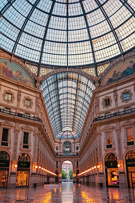 Galleria Milan Italy Poster by Joan Carroll