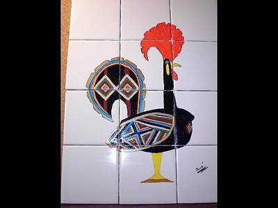 Poster featuring the ceramic art Galo De Barcelos by Hilda and Jose Garrancho