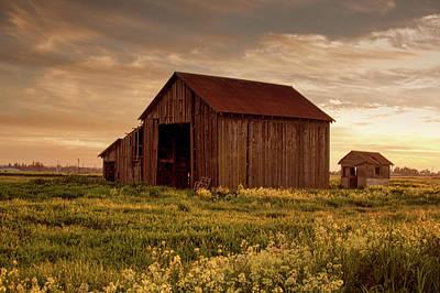 Galt Barn At Sunset Poster