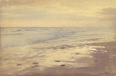 Galveston Island Sunset Seascape Photo Poster