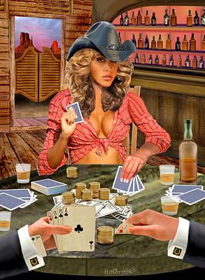Gamblin' Cowgirl Poster