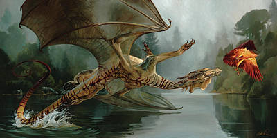 Game Of Chase Poster by Heather Theurer
