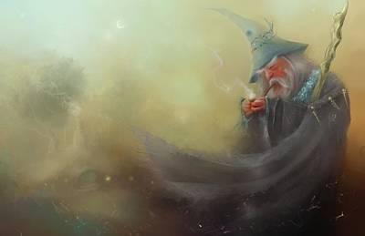 Gandalf Pipe Weed Poster by Joe Gilronan