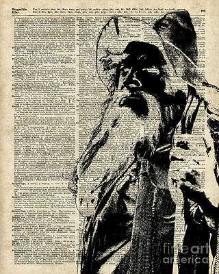 Gandalf Wizard Over Vintage Encyclopedia Book Page,lord Of The Rings,hobbit,tolkien Poster by Jacob Kuch