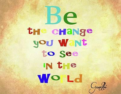 Gandhi Quote Poster