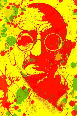 Gandhi Splatter Poster