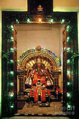 Poster featuring the photograph Ganesh Shrine by Granger