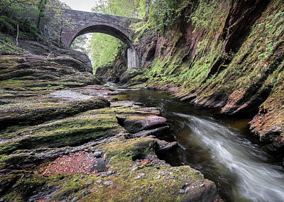 Gannochy Bridge Poster by Dave Bowman