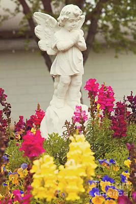 Garden Angel Poster by Toni Hopper