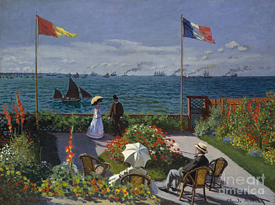 Garden At Sainte Adresse, 1867 Poster