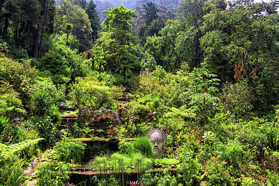 Garden At The Base Of Monserrate Poster