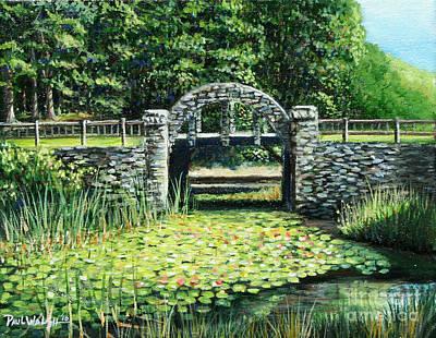 Garden Bridge Poster by Paul Walsh