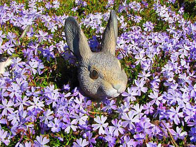 Garden Bunny Poster by Ms Judi