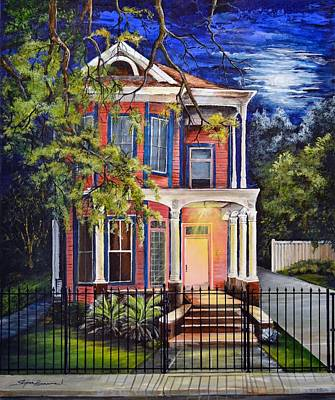 Garden District Home Poster by Stephen Broussard