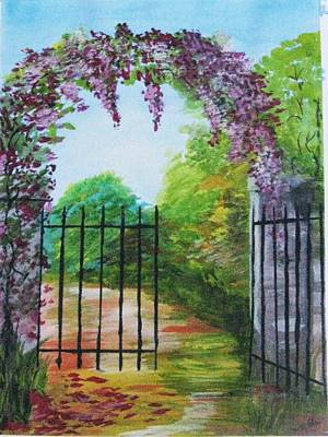 Poster featuring the painting Garden Entrance by Trilby Cole