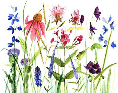 Garden Flowers Poster by Laurie Rohner