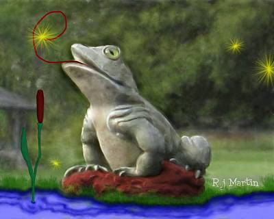Garden Frog Poster