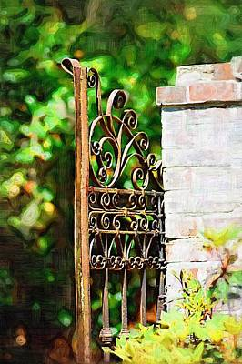 Poster featuring the photograph Garden Gate by Donna Bentley