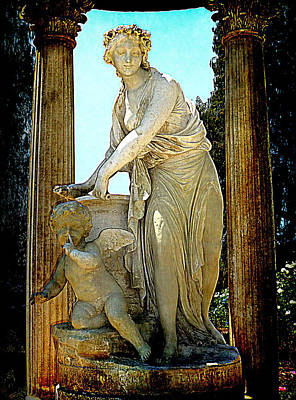 Poster featuring the photograph Garden Goddess by Lori Seaman