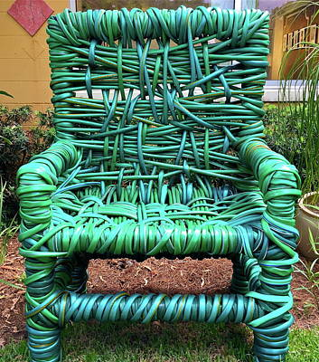 Garden Hose Chair Poster
