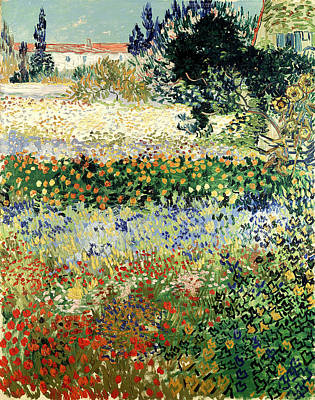 Poster featuring the painting Garden In Bloom by Van Gogh
