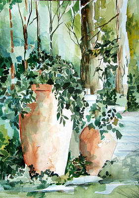 Garden In Capri Poster by Mindy Newman