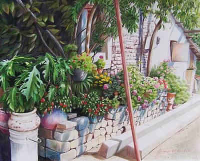 Poster featuring the mixed media Garden In Riberas Del Pilar by Constance Drescher