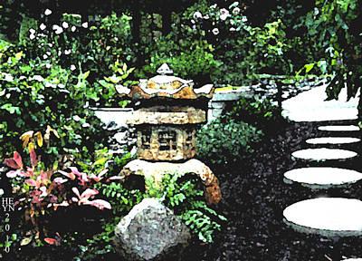 Garden Lantern Poster by Shirley Heyn