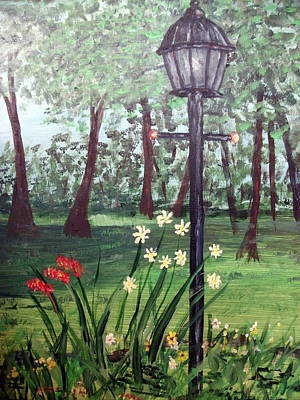 Poster featuring the painting Garden Light by Debbie Baker